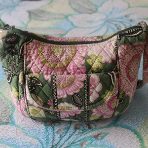 Vera Bradley Women's Crossbody Bag Stitched Flower